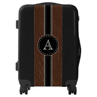 Faux Leather Monogram Suitcase Luggage Men's Gift