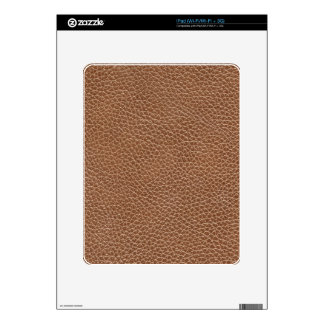 Faux Leather Natural Brown Decal For The iPad