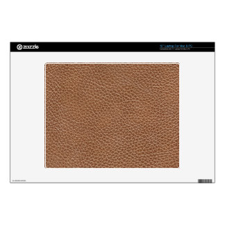 """Faux Leather Natural Brown Decals For 12"""" Laptops"""