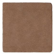 Faux Leather Natural Brown Trivet