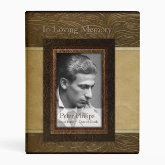 Faux leather parchment Photo Memorial Guest Book M Mini Binder
