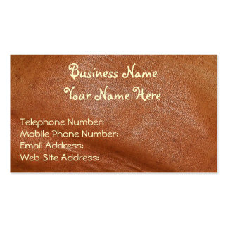 Faux Leather Rustic style Business Cards