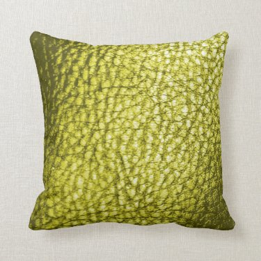 Faux Leather Throw Pillow-Golden Light Yellow