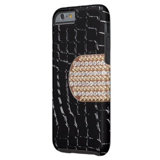Faux Leather With Faux Diamond Strap IPhone 6 Case