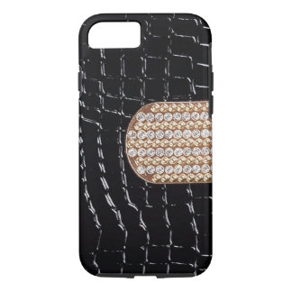 Faux Leather With Faux Diamond Strap iPhone 7 Case