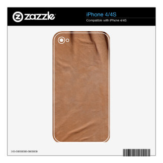 Faux Leather Zazzle Skin Skin For iPhone 4