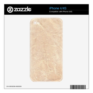 Faux Leather Zazzle Skin Skins For iPhone 4S