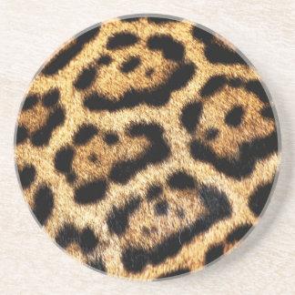 Faux Leopard Fur Coaster