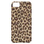 Faux Leopard Fur iPhone 5C Case