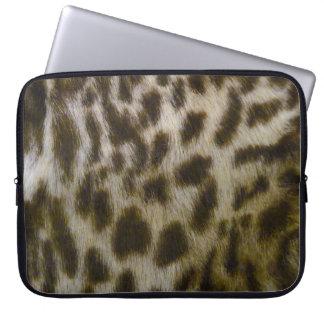 Faux Leopard Laptop Sleeve