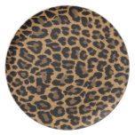 faux leopard print dinner plates