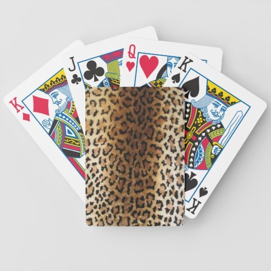 faux Leopard Print Playing Cards