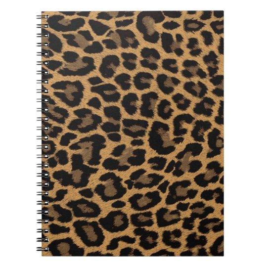 faux leopard print spiral notebook
