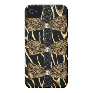 Faux leopard skin Barely There IPhone 4 Case