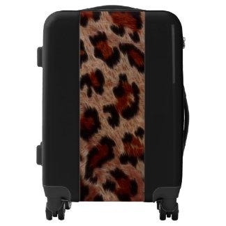Faux Leopard Spots Fur Luggage