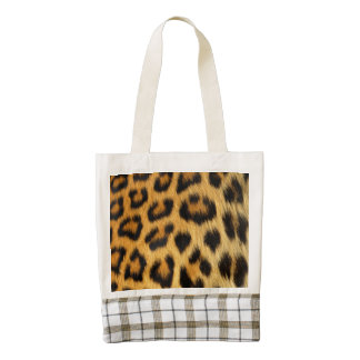 Faux Leopard Spots Fur Zazzle HEART Tote Bag