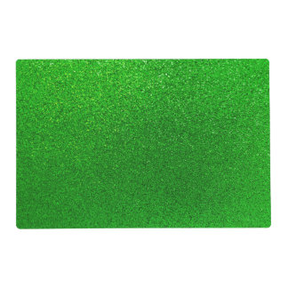 Faux Lime Green Glitter Background Sparkle Placemat