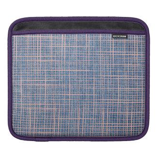 Faux Linen canvas Denim burlap checker iPad Sleeve
