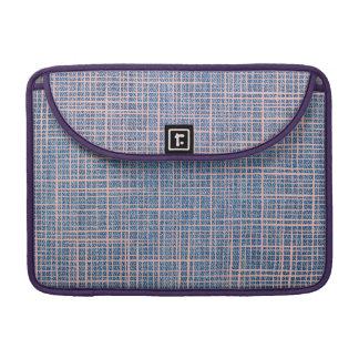 Faux Linen checker Denim burlap Macbook Pro Sleeve