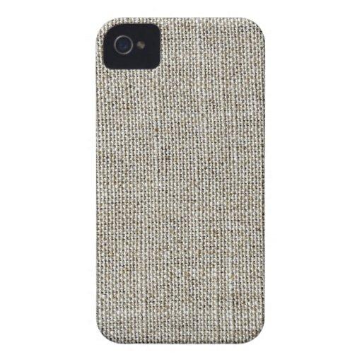 Faux Linen Fabric iPhone Case iPhone 4 Case-Mate Cases