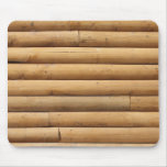 Faux Log Cabin Siding Background Mouse Pads