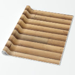 Faux Log Cabin Siding Gift Wrap Paper