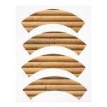 Faux Log Cabin Siding Letterhead Design