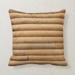 Faux Log Cabin Siding Pillow