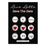Faux Love Lotto Save the Date Announcement