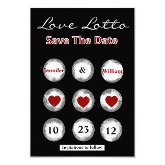 "Faux Love Lotto Save the Date Announcement 3.5"" X 5"" Invitation Card"