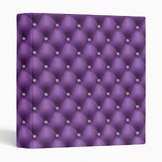 FAUX luxurious leather purple diamante folder 3 Ring Binder