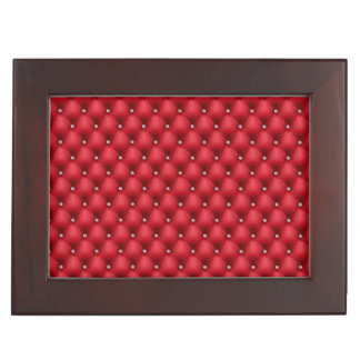 FAUX luxurious leather red bling box