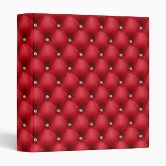 FAUX luxurious leather red diamante folder