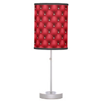 FAUX luxurious leather red diamante lamps