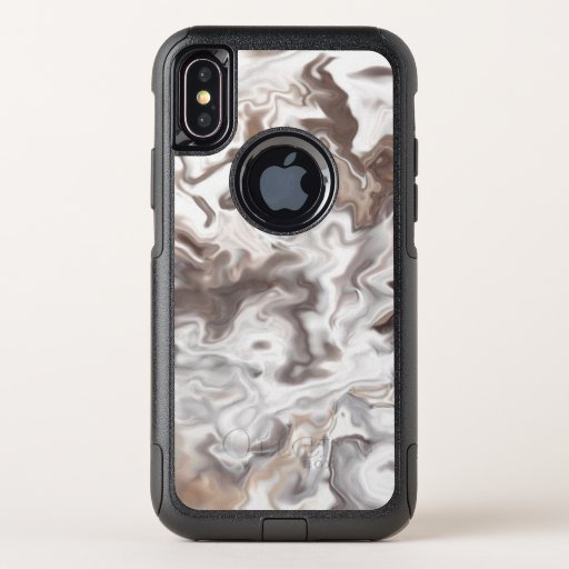Faux Marble Abstract OtterBox Commuter iPhone XS Case