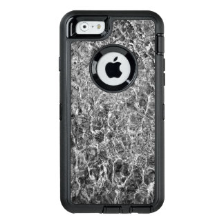 Faux Marble Abstract Water Black and White Photo OtterBox Defender iPhone Case