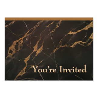 Faux Marble Invites