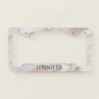 Faux Marble License Plate Frame