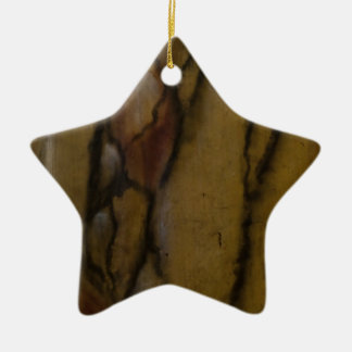 Faux marble look ceramic ornament