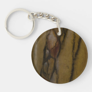 Faux marble look Single-Sided round acrylic keychain