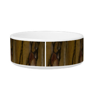 Faux marble look pet food bowls