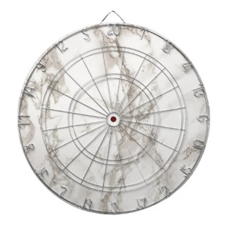 (faux) marble - sophisticated trendy beautiful dartboard with darts