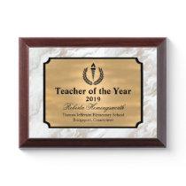 Faux Marble Teachers Award Plaque