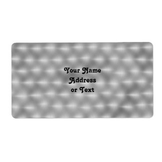Faux Metal - Brushed Steel Personalized Shipping Labels
