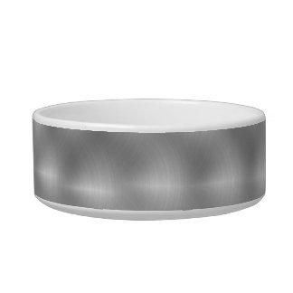 Faux Metal - Brushed Steel Pet Bowls