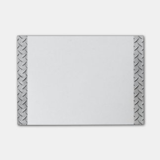 Faux Metal Diamond Plating Background Image Post-it Notes