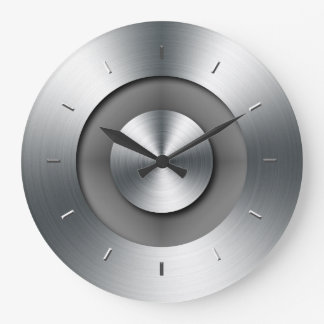 Faux Metal Elegant Modern Wall Clock