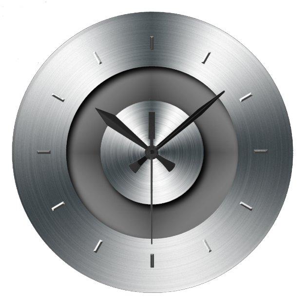 Faux Metal Elegant Modern Wall Clock | Zazzle.com