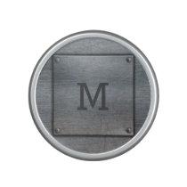 Faux Metal Plate custom monogram speaker