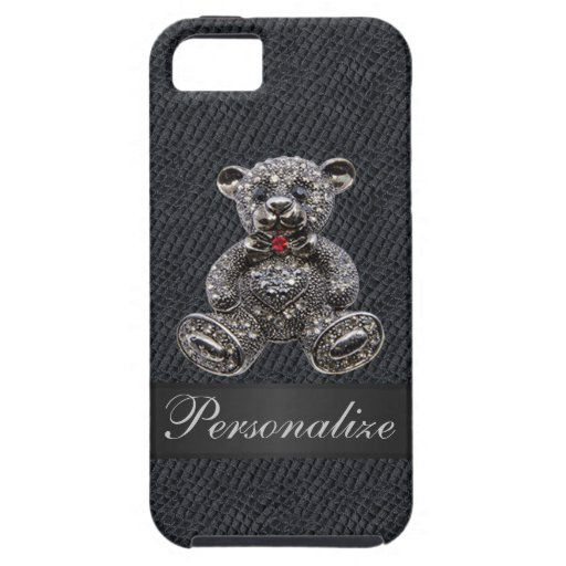 Faux Metal Teddy Bear Personalized iPhone 5 Case iPhone 5 Cover